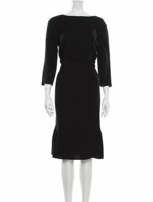 Oscar de la Renta 2016 Midi Length Dress Wool