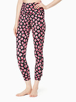 Kate Spade Cinched side bow high waisted capri legging