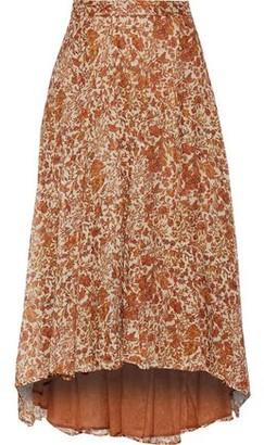 Masscob Printed Cotton And Silk-blend Gauze Skirt