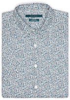 Perry Ellis Big and Tall Short Sleeve Linen Paisley Shirt