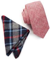 Original Penguin Fowler Solid Tie & Pocket Square Set