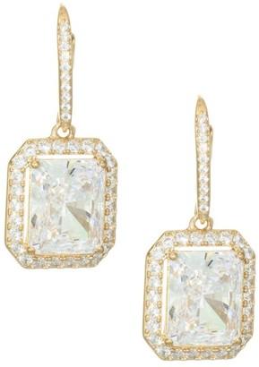Adriana Orsini 18K Goldplated Sterling Silver Framed Rectangle Leverback Earrings