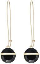 Robert Lee Morris Stone Shepherd's Hook Earrings (Black) Earring