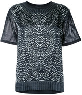 Barbara Bui rhinestone print T-shirt - women - Silk/Cotton - XS