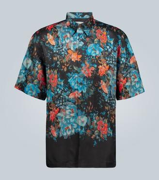 Dries Van Noten Floral printed short-sleeved shirt