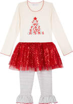 Bonnie Jean 2-Pc. Christmas Holiday Tunic & Leggings Set, Toddler Girls (2T-5T) & Little Girls (4-6X)