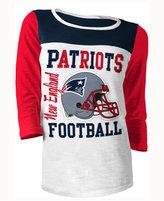 5th & Ocean Women's New England Patriots Three-Quarter Glitter T-Shirt