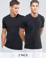 Calvin Klein 2 Pack Crew T-Shirts In Slim Fit