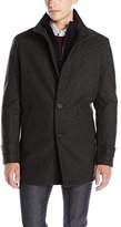 Andrew Marc Men's Strafford Pressed Wool Carcoat W/ Inset Knit Bib