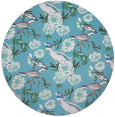 """N. Nicolette Mayer Peony Inspira 16"""" Round Pebble Placemats, Set of 4"""