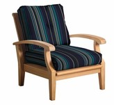 Lowery Deep Seating Teak Patio Chair with Sunbrella Cushions Rosecliff Heights