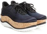 Miu Miu Satin platform sneakers