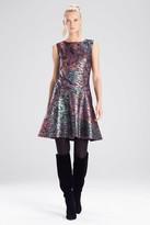 Natori Bohemia Garden Jacquard Flare Dress