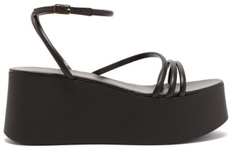 Gianvito Rossi Bekah 20 Leather Platform Sandals - Womens - Black