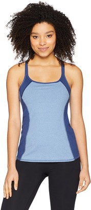 Splendid Women's Studio Activewear Athletic Yoga Tank with Built-in Shelf Bra