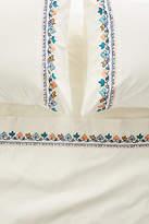 Anthropologie Embroidered Jordenna Sheet Set