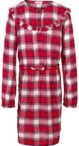 Fat Face Girls' Esme Check Dress, Red