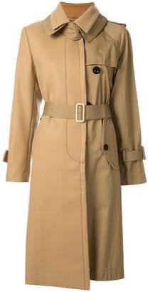 Sacai Melton Trench Coat with Belt