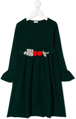 Il Gufo Crocheted Belt Dress