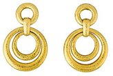 David Webb 18K Staggered Circle Drop Earrings