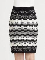 M Missoni Zigzag Striped Knit Skirt
