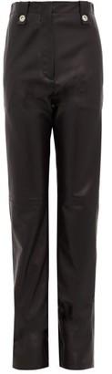 Ludovic de Saint Sernin Waist-tab Leather Trousers - Black