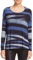 Three Dots Valerie Abstract Stripe Top
