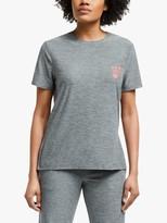 DKNY Logo Short Sleeve Pyjama Top, Grey