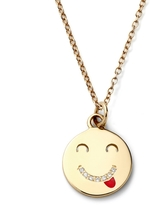 Alison Lou Medium Tongue Out Necklace With Diamond Smile