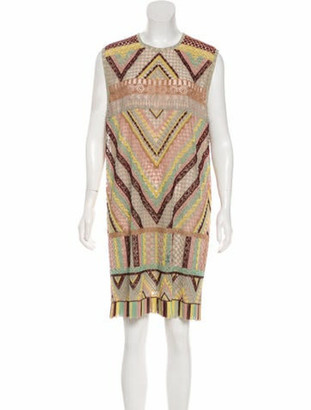 Valentino Native Couture 1975 Beaded Dress Tan