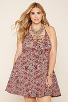 Forever 21 FOREVER 21+ Plus Size Abstract Cami Dress