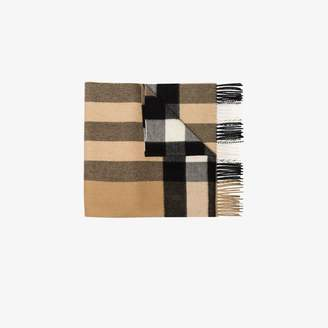 Burberry beige check cashmere scarf