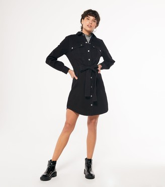 New Look Denim Long Sleeve Shirt Dress