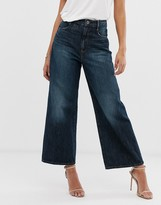 G Star G-Star organic cotton cropped wide leg jean