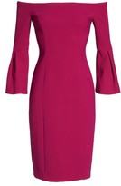 Vince Camuto Women's Off The Shoulder Bell Sleeve Sheath Dress