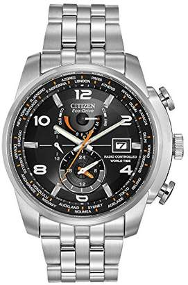 Citizen Men's Eco-Drive World Time Atomic Timekeeping Watch with Day/Date