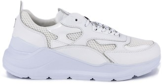 D.A.T.E White Leather Fuga Sneakers