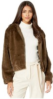 Cupcakes And Cashmere Breda Faux Fur Hooded Jacket (Army) Women's Coat