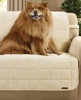 Sure Fit Velvet Deluxe Pet Armless Slipcover Collection with Sanitize Odor Release