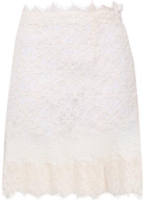 Sandro Filipine Cotton-blend Corded Lace Mini Skirt