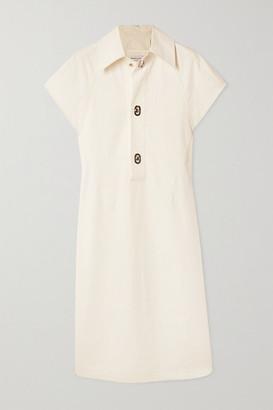 Bottega Veneta Coated Cotton-poplin Dress - White