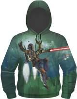Star Wars Boba Fett Flying Men's Sublimated Zip Hoodie, 3X-Large