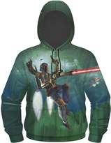 Star Wars Boba Fett Flying Men's Sublimated Zip Hoodie