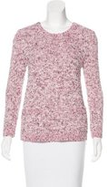 Rebecca Taylor Zip-Accented Mélange Sweater
