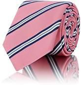 Barneys New York Men's Striped Silk-Cotton Necktie