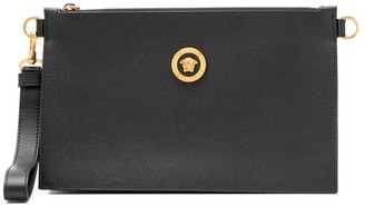 Versace Logo Plaque Clutch