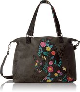 Loungefly Disney Alice Printed/ Applique Faux Leather Tote