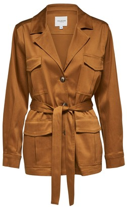 Selected Bronze Brown Milla Short Trench Coat - 34