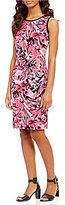 Kasper Sleeveless Wildflower Printed Crepe Dress
