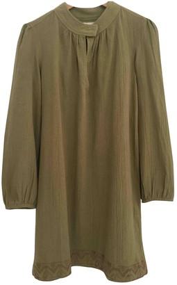 Polder Green Cotton Dress for Women